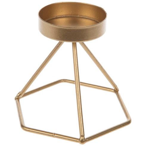 Gold Geometric Large/Small Tea Light Holder