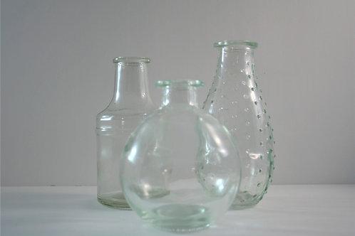 Clear Small Bud Vases