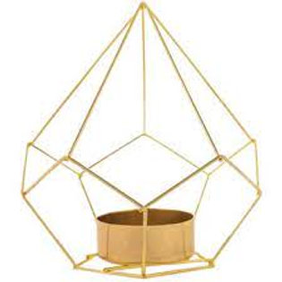 Gold Geometric Tea Light Holder