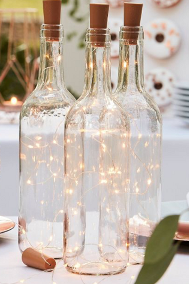 Clear Lighted Bottles
