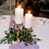 Thumbnail: Glass Shade - Ceramic Gold Candle Holders