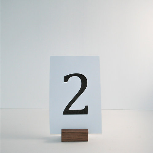 Wooden Table Number Holders