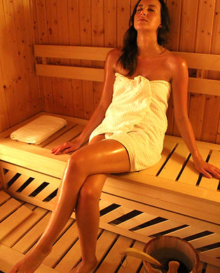 Private Sauna nach dem Sport