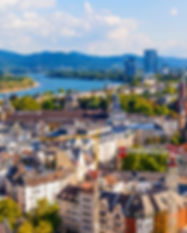 aerial of Bonn, the former capital of Ge