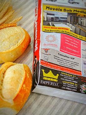 Publicidade em saco de pão