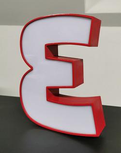 3D printed sign letter