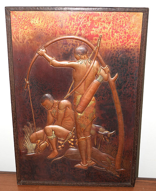 Bronze canvas with frame