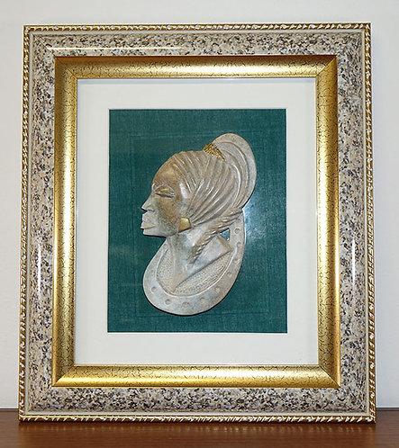 Mbigou mask with frame