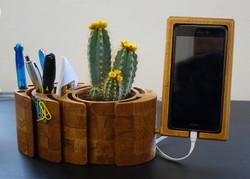 Wooden desk organizer designed from customer's logo Czechia