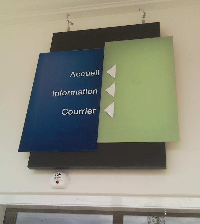 Plexiglass printed direction sign Czechia