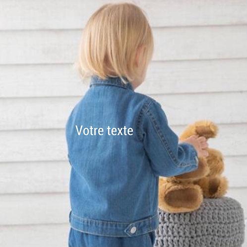 Petite veste en jean bébé à personnaliser