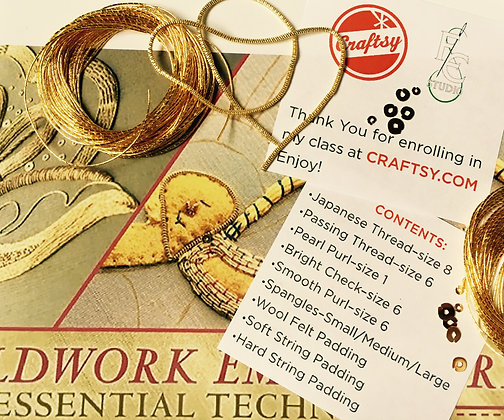 Craftsy Goldwork Essentials Class Material Kit