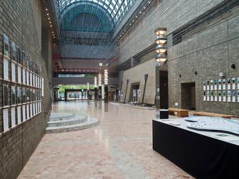 江戸川区総合文化センター 江戸川アートプロジェクト 展示風景 エントランス