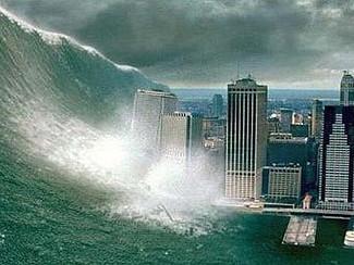 El tsunami en los medios