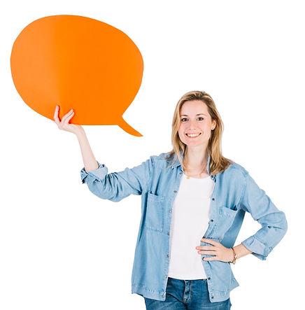 Chica burbuja diálogo
