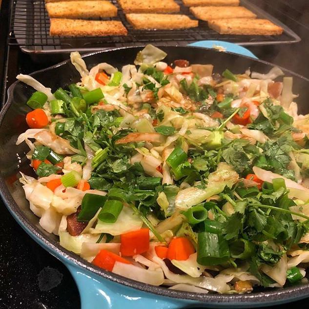 Veggie and Tofu dinner tonight.jpg