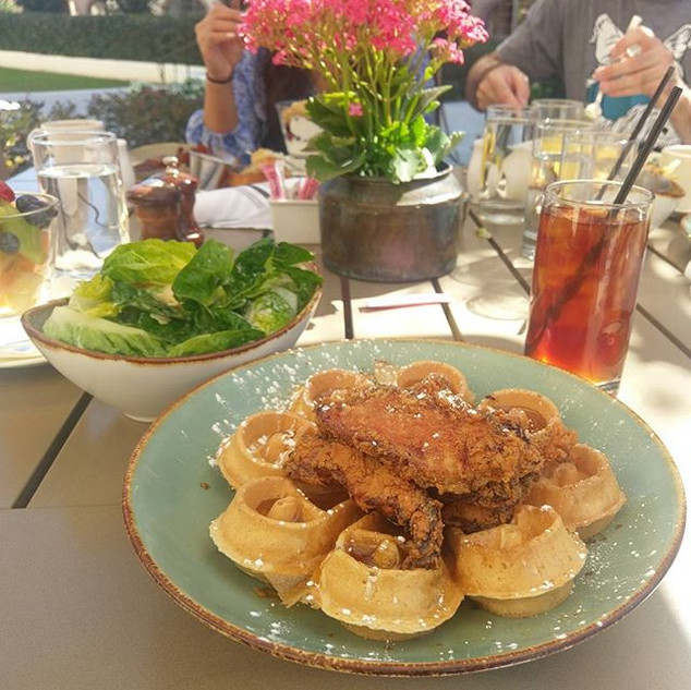 Some amazing chicken and waffles from Ha