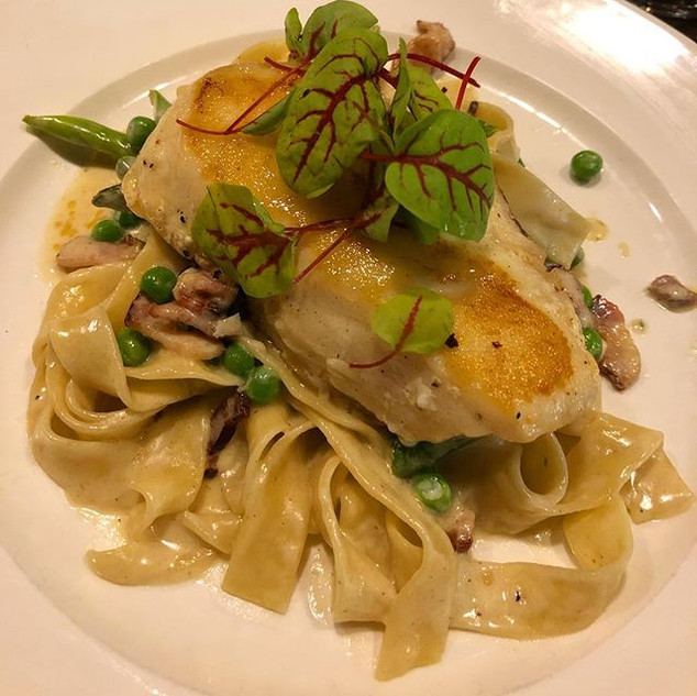 Grouper Pappardelle, it was cooked to pe