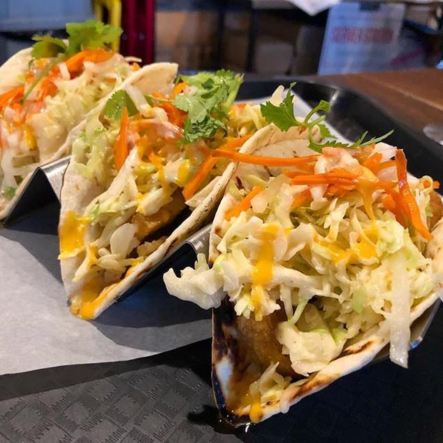 The crispy-tofu banhmi tacos at _vietnom