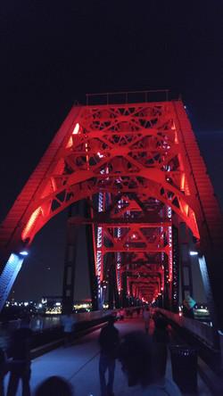 Bridge top at night