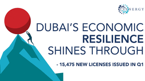 Dubai's reports 19% year-on-year growth in the issuance of new trade licenses.