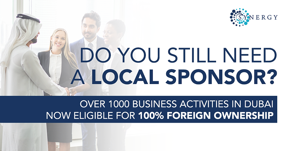 Local sponsor Dubai, Foreign ownership Dubai