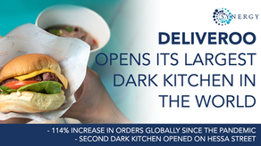 Deliveroo has just opened its largest 'dark kitchen' in the world