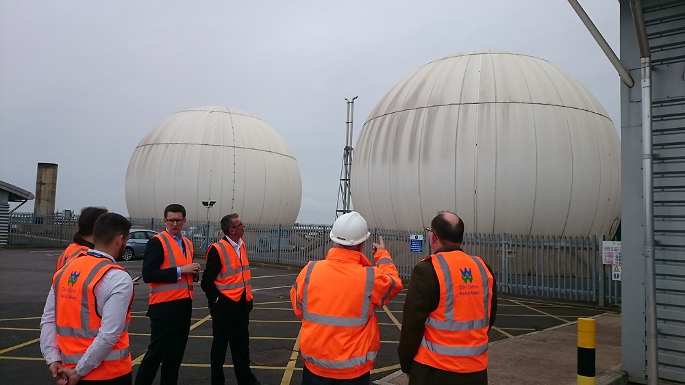 The Customer Challenge Group visiting Cardiff Waste Water Works