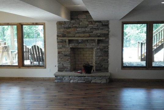 First Floor Home Remodel w/ Fireplace Installation