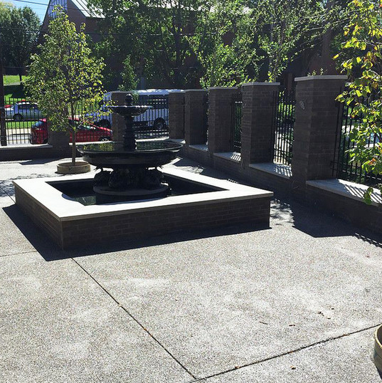 Restaurant Patio & Masonry Wall