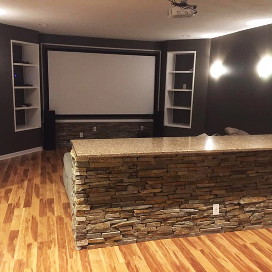 Basement Remodel/Entertainment Room