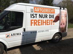 Werbung auf Transporter