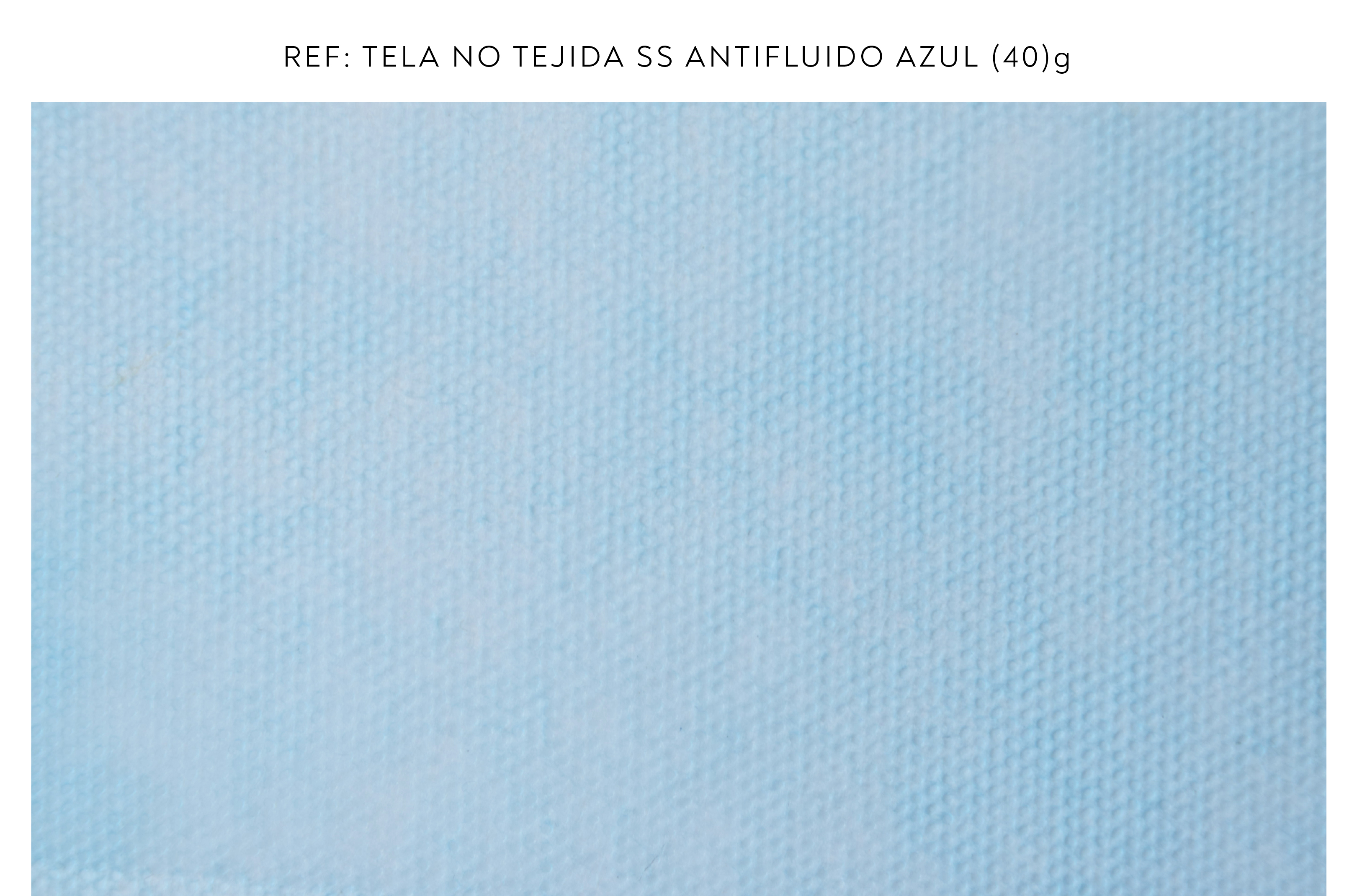 Tela no tejida azul 25g