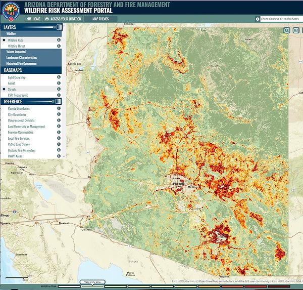 DFFM Wildfire Risk for AZ - Jul 2020.jpg