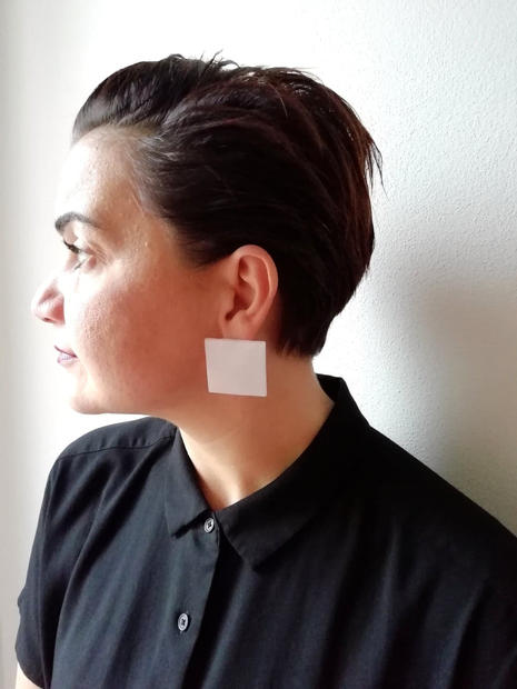 Square Traslucent Earrings