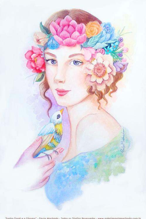 """""""Sonho Floral e o Pássaro"""" Parcele em 6 X R$ 54,98"""