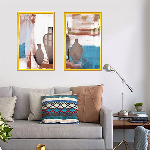 Abstrato Vasos Marrons