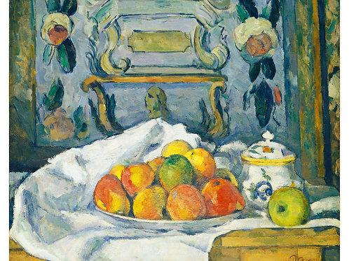 Impressão Emoldurada - Prato de maçãs - Paul Cézanne