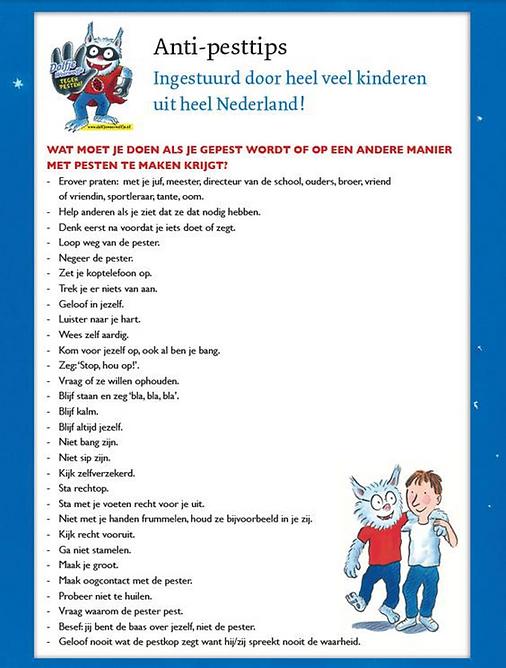 anti-pesttips van kinderen voor kinderen