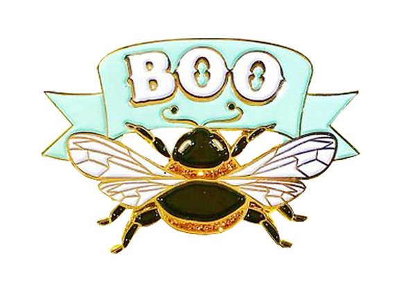 Boo-bee Enamel Pin