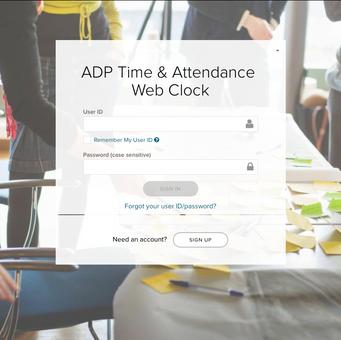 ADP Time & Attendance  Web Clock