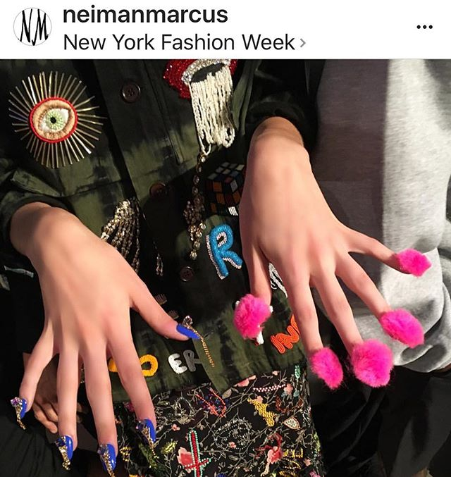 What's cooler than cool_ _neimanmarcus posting my Bermuda blue #splitstylemani shared with Pink Flos