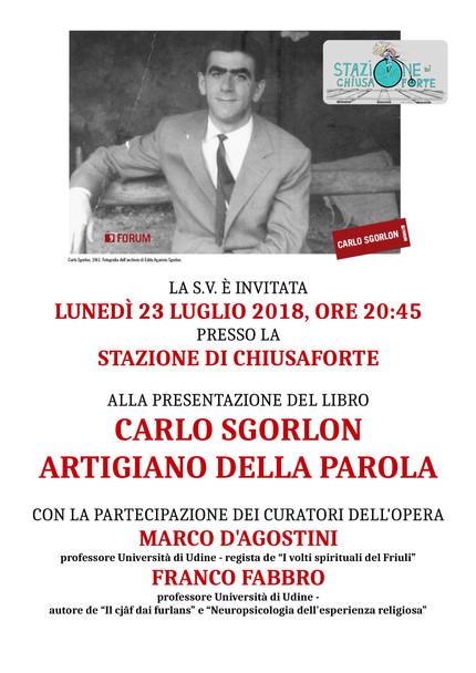 """Presentazione libro """"Carlo Sgorlon artigiano della parola"""" a Chiusaforte"""