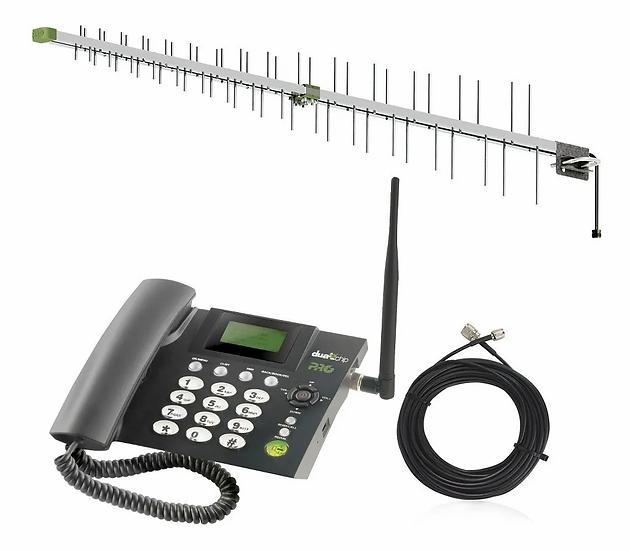 Teléfono Dual + Antena Quad Band + Cable de Descenso de 12m