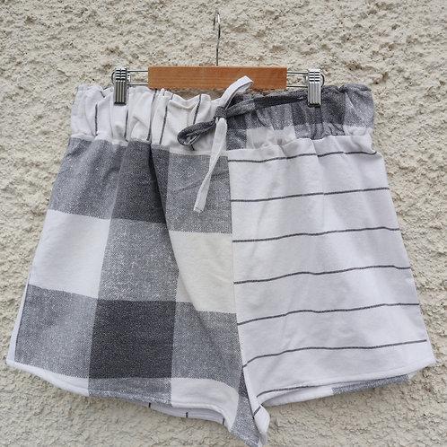 Checked vs striped PJ shorts