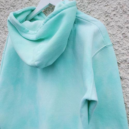 Mint green tie dye hoodie