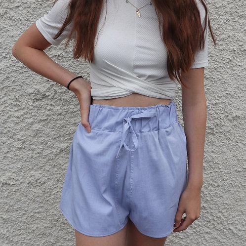 Dusky blue PJ shorts