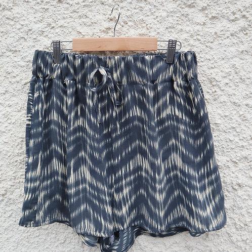 Navy blue aztec print PJ shorts