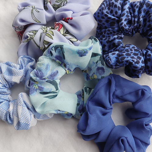 Blue scrunchies