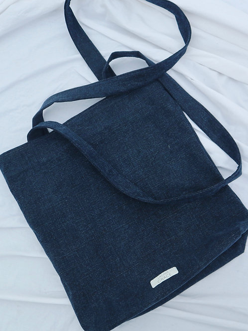 Plain denim tote bag